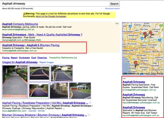 Google AdWords and the Yellow Pages