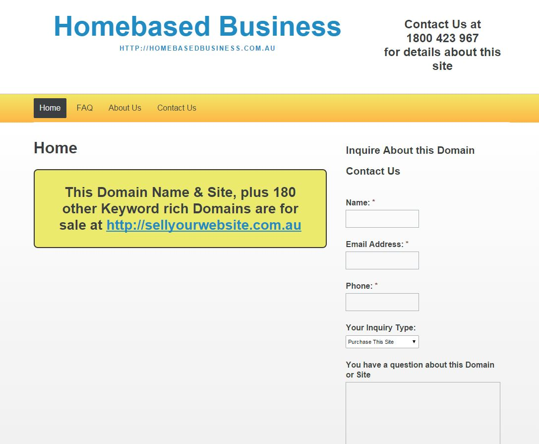 Homebased Business - www.homebasedbusiness.com.au for lease or sale
